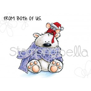 POLAR BEAR and MOUSIE STUFFIES rubber stamp
