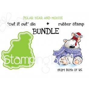 "POLAR BEAR and MOUSIE ""cut it out"" dies + rubber stamp BUNDLE (save 15%)"
