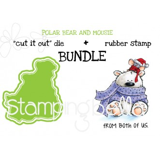 """POLAR BEAR and MOUSIE """"cut it out"""" dies + rubber stamp BUNDLE (save 15%)"""