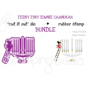 TEENY TINY TOWNIE CHANUKAH RUBBER STAMP + DIE BUNDLE (SAVE 15%)