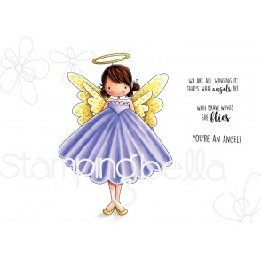 Tiny Townie ANNIE the ANGEL rubber stamps (includes 3 sentiments)