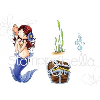 TINY TOWNIE MERMAID SET (cling mounted rubber stamps)