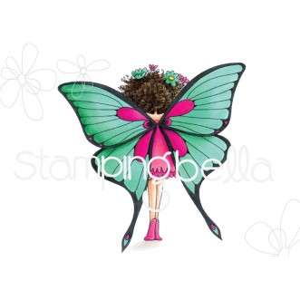 tiny townie butterfly girl BABETTE rubber stamp