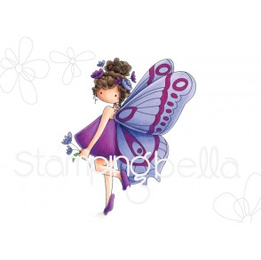 tiny townie butterfly girl BRIANNA rubber stamp