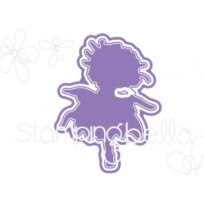 "tiny townie GARDEN GIRL CHRYSANTHEMUM ""CUT IT OUT"" DIE"