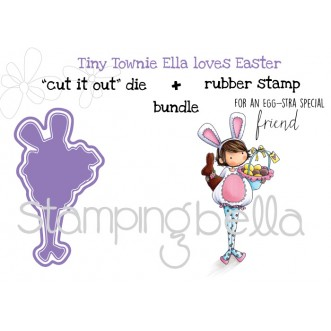 "tiny townie ELLA LOVES EASTER RUBBER STAMP + ""CUT IT OUT"" DIE BUNDLE (save 15%)"