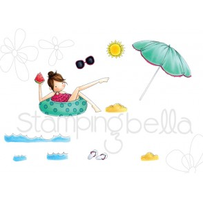 TINY TOWNIE FRANCES loves to FLOAT (set of 10CLING MOUNTED RUBBER STAMPS)
