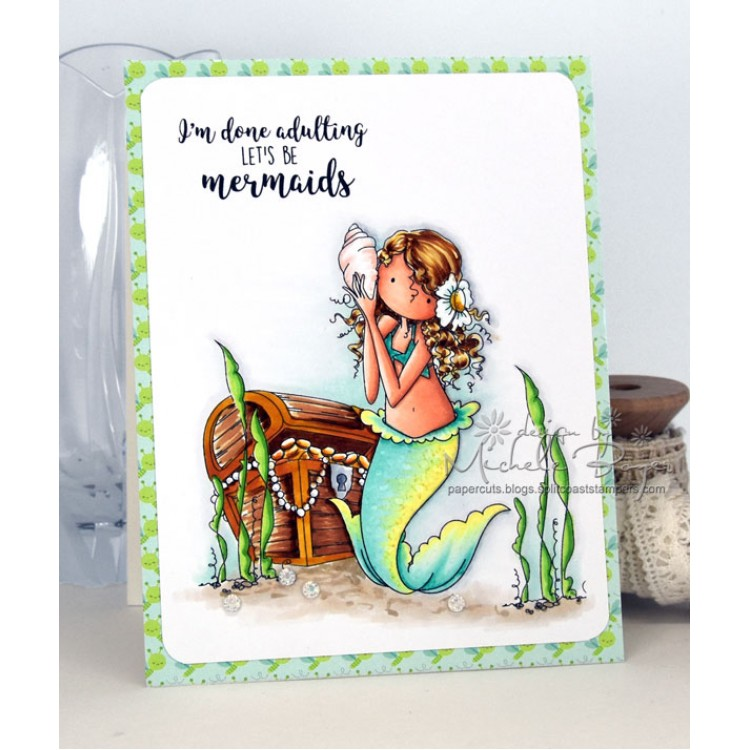 Stamping Bella EB519 Cling Stamps-Mermaid