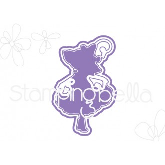 "TINY TOWNIE GARDEN GIRL MORNING GLORY ""CUT IT OUT"" DIE"