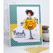 "tiny townie GARDEN GIRL ROSE ""CUT IT OUT"" DIE AND RUBBER STAMP BUNDLE (save 15% when purchased together)"