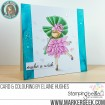 tiny townie GARDEN GIRL WATER LILY  RUBBER STAMP (July's birth FLOWER)
