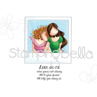 UPTOWN GIRLS SNAPSHOTS LEAN ON ME rubber stamp