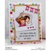 "UPTOWN GIRLS SNAPSHOTS I HEART YOU RUBBER STAMP + POLAROID ""CUT IT OUT"" DIE BUNDLE"