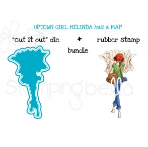 "UPTOWN GIRL MELINDA has a MAP ""CUT IT OUT"" DIE + RUBBER STAMP BUNDLE (save 15%)"