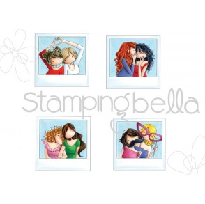 UPTOWN GIRLS SNAPSHOTS MINIS rubber stamp
