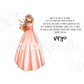 UPTOWN ZODIAC GIRL VIRGO rubber stamp