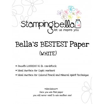 "Bella's ""BEST"" Paper  WHITE (10 sheets)"