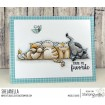 SQUISHY CATS rubber stamp