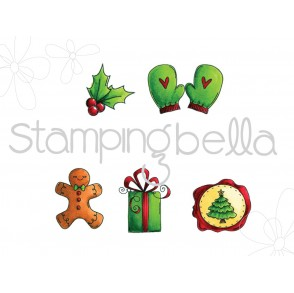Christmas Spirit Envelope Accents (includes 6 stamps!)