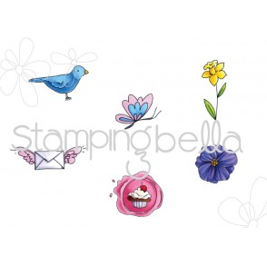 Mister Postie SIGNS OF SPRING RUBBER STAMPS (set of 6)