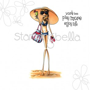 uptown girl SANDY has a SOMBRERO (includes sentiment)