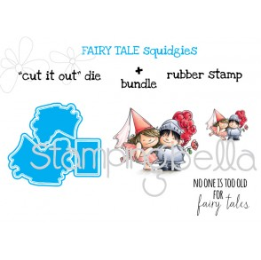 """fairy tale SQUIDGIES """"CUT IT OUT"""" dies + RUBBER STAMP bundle (Save 15% when purchased together)"""