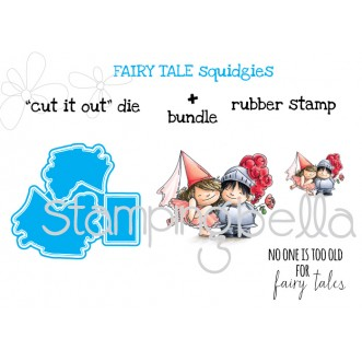 "fairy tale SQUIDGIES ""CUT IT OUT"" dies + RUBBER STAMP bundle (Save 15% when purchased together)"