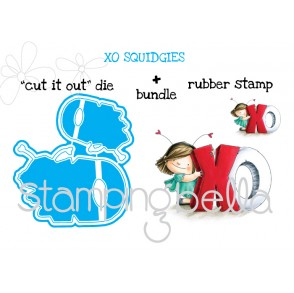 """xo SQUIDGY """"CUT IT OUT"""" DIES + RUBBER STAMP BUNDLE (Save 15% when purchasing together)"""
