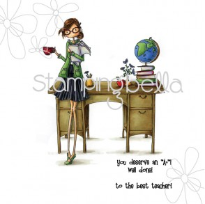 uptown girl TESSIE the TEACHER (includes 2 sentiments)