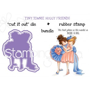 "TINY TOWNIE HUGGY FRIENDS RUBBER STAMP+ ""CUT IT OUT"" DIE BUNDLE (SAVE 15%!)"