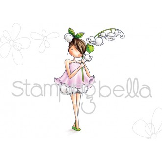 tiny townie GARDEN GIRL LILY OF THE VALLEY (includes 1 stamp)