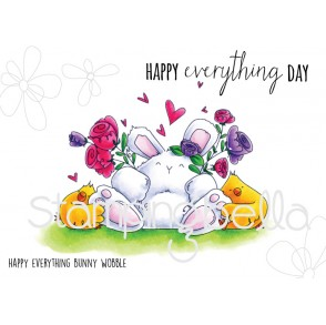 HAPPY EVERYTHING bunny WOBBLE (includes 2 stamps)