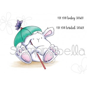 shower BUNNY WOBBLE (includes 2 sentiments)