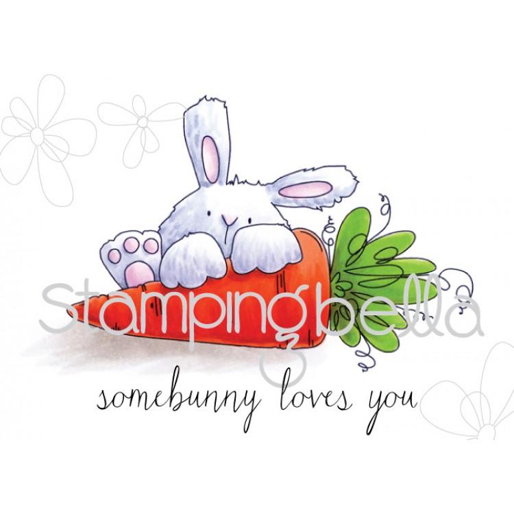 somebunny loves you bunny wobble rubber stamp set of 2 stamps. Black Bedroom Furniture Sets. Home Design Ideas