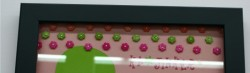 not that clear but I made 3 different colored rows of kajinkers to make a border on a scrapbook layout