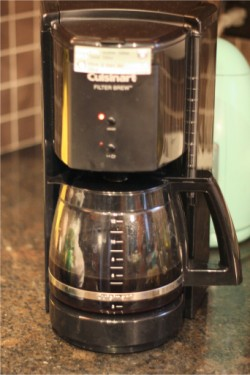 my wonderful coffeemaker.. LOVE YOU CUISINART!