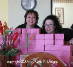 we thought we were SOOOO Smart hiding our HOT BODS behind the bella pink bakery goody boxes