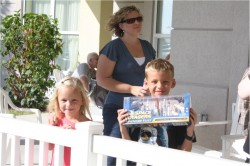 Here are Nichole and Her kids Owen holding his toys from the Space Center and Hanna and her gorgeous smile! Ethan I think was hiding somewhere :)
