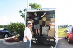 "that UHAUL was PACKED and ready to go.. Ryan jumped in the UHAUL and Joe was ""supervising"" lol"
