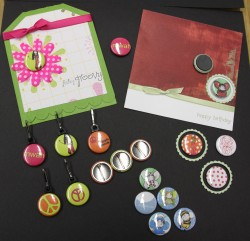 nickabella worked her magic incorporating the bella badges on the 2 cards shown.  They are magnets!