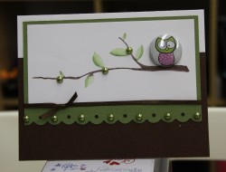 LOOOOOOOVE this card.. with the green pearls and the COLORING OF THE BRANCH? you just wait!