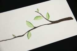 VOILA!  A bEEyOOtiful Branch and leaves with depth.. LOVE IT NICKABELLA!