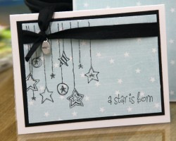 A star is Born.. A pretty bold card for a baby :) but I love it!