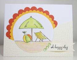 stephanie bonniot using beach hut and ball