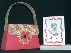 paper purse and mini card with Charlotte Ketto!