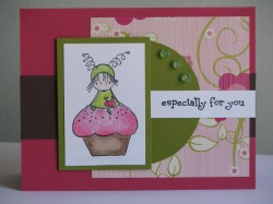 Lindsay Henderson used CUPPYCAKE WITH A HUGGABUGG ON TOP