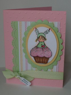 Louise Charlton used CUPPYCAKE with a HUGGABUGG ON TOP