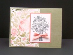 Another sheet used from the paper pack and Sindi used our DOZEN ROSES STAMP