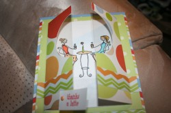 Cyndee used JAVABELLAS in a clever folded card!