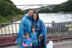 before THE MAID OF THE MIST being dunked in Niagara Falls.. am I a sport or what?